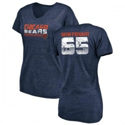 Women's Cody Whitehair Chicago Bears Retro Tri-Blend V-Neck T-Shirt - Navy