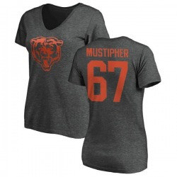 Women's Sam Mustipher Chicago Bears One Color T-Shirt - Ash
