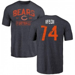Youth Germain Ifedi Chicago Bears Navy Distressed Name & Number Tri-Blend T-Shirt