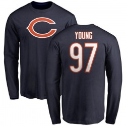 Youth Willie Young Chicago Bears Name & Number Logo Long Sleeve T-Shirt - Navy